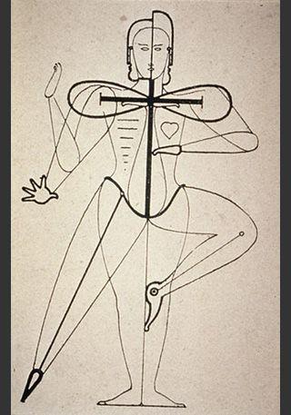 Oskar Schlemmer ca. 1921, [http://commons.wikimedia.org/wiki/File:Oskar_Schlemmer_Sketch_of_figural_movement_for_dance_1921.jpg?uselang=de Wikimedia Commons] ([http://de.wikipedia.org/wiki/Gemeinfreiheit?uselang=de gemeinfrei])