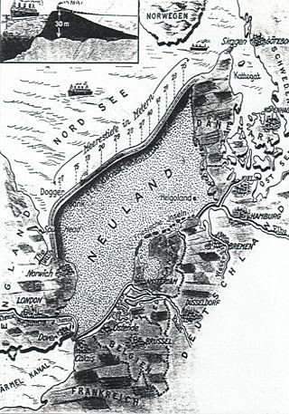 Deutsches Planungsprojekt zur Trockenlegung der Nordsee, 1932 Quelle: Berliner Illustrierte Zeitung, Nr. 44/1932