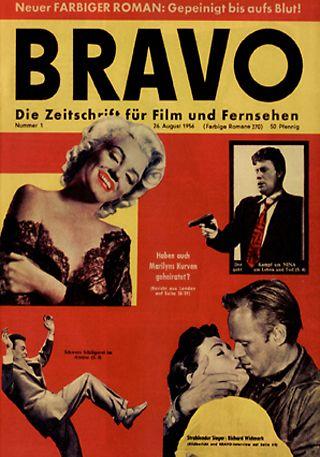 """Das Cover der ersten """"Bravo"""", 01/1956, 26. August 1956 ©[http://www.bravo.de/ Bravo]"""