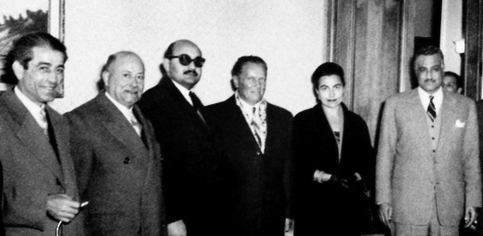 Tito und die Blockfreien Staaten: Gamal Abdel Nasser und Josip Tito in Aleppo in 1959, Quelle: [http://commons.wikimedia.org/wiki/File:President_Gamal_Abdul_Nasser_and_Yugoslavian_President_Josip_Tito_in_Aleppo_in_1959.jpg Wikimedia Commons] ([http://en.wikipedia.org/wiki/Public_domain Public domain])