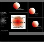 """Website """"Eigen-Sinn. Für hochbegabte Kinder mit ADS"""", Screenshot, 1.9.2014 www.eigen-sinn.homepage.t-online.de"""
