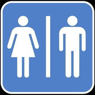 Piktogramm Geschlechterzuordnung Quelle: [http://commons.wikimedia.org/wiki/File:Bathroom-gender-sign.png Wikimedia Commons] ([http://en.wikipedia.org/wiki/Public_domain Public Domain]).