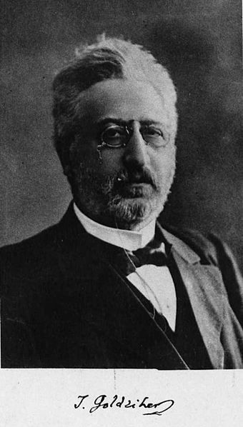 Ignaz Goldziher (1850-1921): Begründer der modernen historischen Islamwissenschaft und wohl bedeutendster Orientalist zu Beginn des 20. Jahrhunderts. Bild: Orientalist. Quelle: [http://commons.wikimedia.org/wiki/File:Goldziher_1911-1912.jpg?uselang=de Wikimedia Commons] ([https://creativecommons.org/licenses/by-sa/3.0/deed.de CC BY-SA 3.0]).