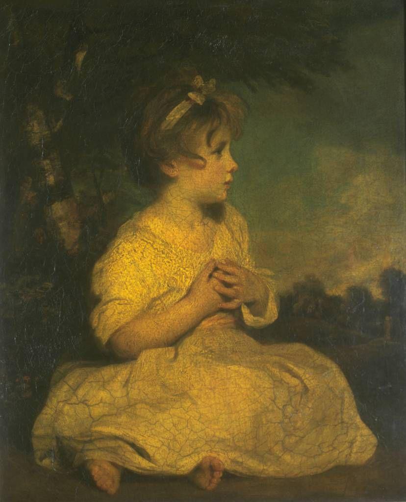 """Die Vorstellung vom """"unschuldigen"""" Kind wird allgemein dem späteren 18. Jahrhundert zugeschrieben. Kinderporträt von Joshua Reynolds: The Age of Innocence, Ölgemälde von 1785 oder 1788. Quelle: [https://commons.wikimedia.org/wiki/File:The_Age_of_Innocence_-_Reynolds.jpg Wikimedia Commons] / [http://www.tate.org.uk/art/artworks/reynolds-the-age-of-innocence-n00307 Tate], gemeinfrei"""
