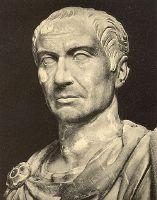 Bust of Julius Caesar. Photo from: Alfred von Domaszewski, Geschichte der Romischen Kaiser, Leipzig 1914, unknown photographer. Source: [https://commons.wikimedia.org/wiki/File:Caesar.jpg#/media/File:Caesar.jpg Wikimedia Commons], Public Domain