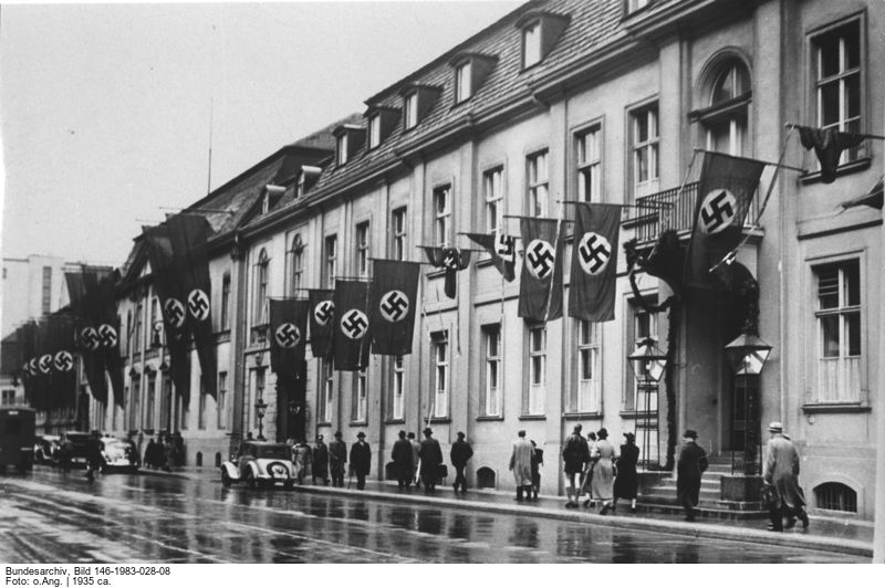 Gebäude des Auswärtigen Amtes, Wilhelmstraße 75/76, Berlin ca. 1935. Fotograf unbekannt, Quelle: Bundesarchiv Bild-Nr. 146-1983-028-08 © mit freundlicher Genehmigung