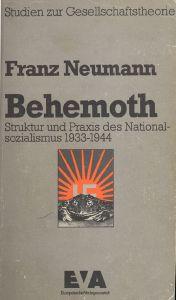 """Titelbild der deutschen Erstausgabe von Franz Leopold Neumanns """"Behemoth"""" (EVA, Frankfurt a.M. 1977)"""