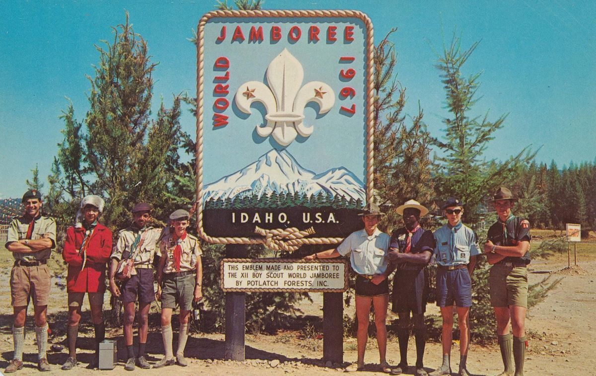 XII Boy Scout World Jamboree - Farragut State Park, Idaho, August 1967. Copyright: pieshops@gmail.com. Source: [https://commons.wikimedia.org/wiki/File:XII_Boy_Scout_World_Jamboree_-_Farragut_State_Park,_Idaho_(6195799522).jpg Wikimedia Commons], license: [https://creativecommons.org/licenses/by-sa/2.0/deed.en CC BY-SA 2.0]