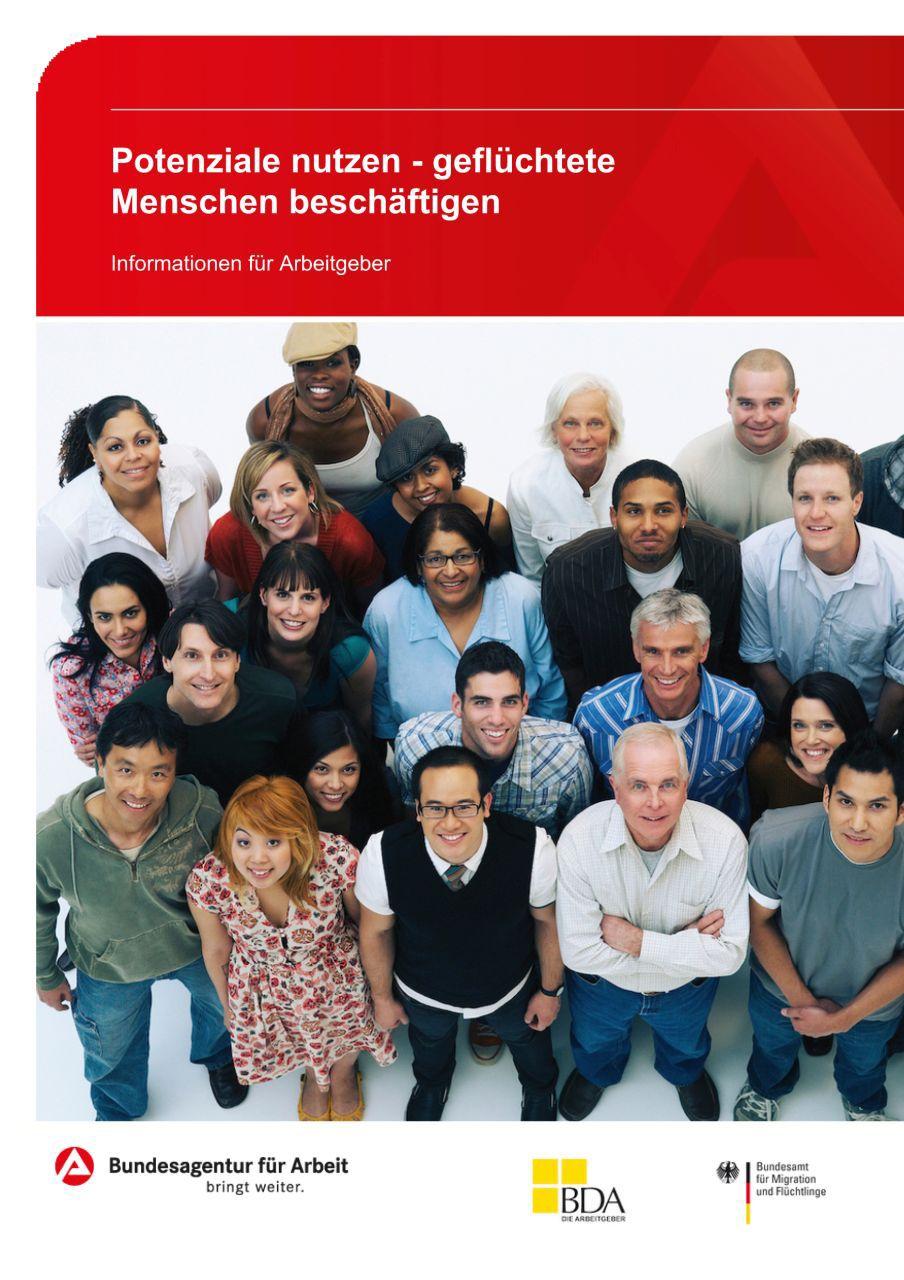 Cover einer Broschüre der Bundesagentur für Arbeit, 2016
