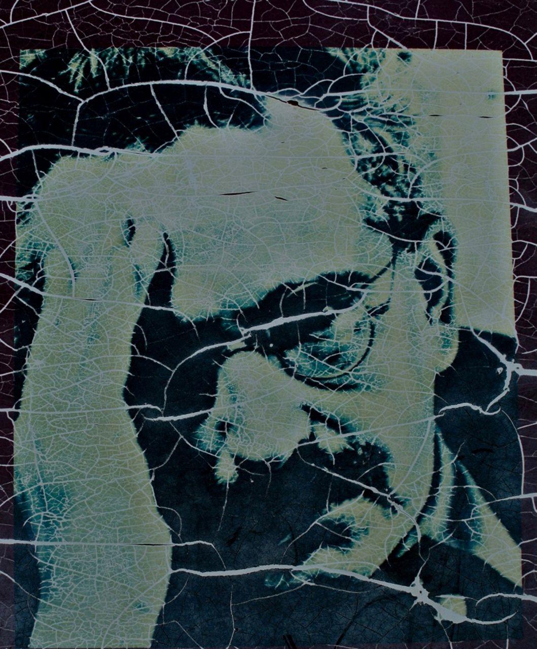 Das verwitterte Porträt Walter Benjamins auf einer Infotafel des katalanischen Memorial Democràtic(Foto: Verena Boos)