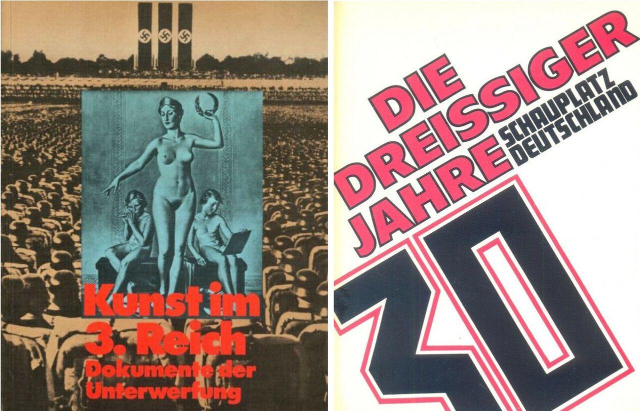 Mit Ausstellungen in Frankfurt a.M. und München kehrte die Kunst des Nationalsozialismus in die Museen zurück. Wie die Covergestaltungen der Kataloge andeuten, waren die konzeptionellen Zugänge dabei durchaus unterschiedlich.