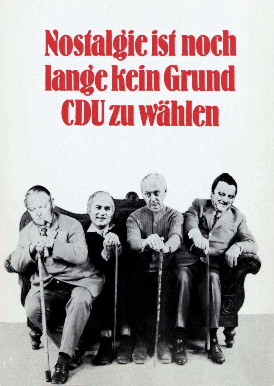 Postkarte und Plakatmotiv des Grafikdesigners und Plakatkünstlers Klaus Staeck, 1974 (© Edition Staeck)